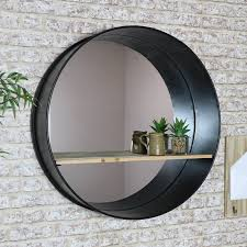 large round industrial mirror with