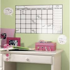 Roommates 10 In X 18 In Dry Erase Calendar 7 Piece Peel And Stick Wall Decal Rmk1556scs The Home Depot