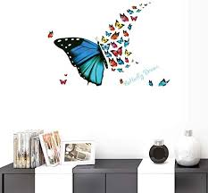 Amazon Com Bibitime Sayings Quotes Butterfly Dream Wall Decals Diy Combination Multicolored Butterflies Vinyl Stickers For Girls Room Nursery Bedroom Kids Room Decor Home Kitchen