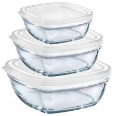 duralex lys square stackable bowl with