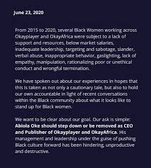 OkayAfrica Cuts Ties With CEO Abiola Oke Amid Allegations of Inappropriate  Behavior
