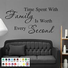 Time Spent With Family Wall Sticker Wall Art Quote Decal Modern Ebay