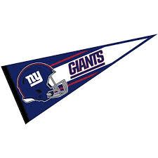 Ny Giants Football Pennant And Ny Giants Football Helmet Logo Pennants