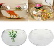 oval glass mini aquarium fish tank for