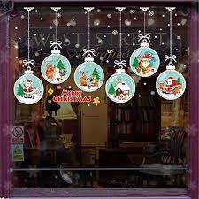 Peroptimist Christmas Stickers Christmas Window Clings Diy Christmas Stickers Sheets Removable Electrostatic Stickers With Snowman Santa Snowflake Christmas Trees Sleigh Car Decal Walmart Com Walmart Com