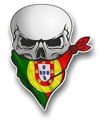 Skull With Face Bandana Portugal Portuguese Flag Vinyl Car Sticker Decal Ebay