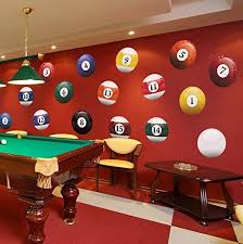 Amazon Com 16 Realistic Color Billiard Balls Wall Decal Sticker Game Room Sign Decor 15in X 15in Size 6089 Easy To Apply Removable Home Kitchen