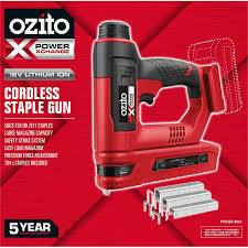 Ozito Pxc 18v Cordless Staple Gun Skin Only Bunnings Warehouse