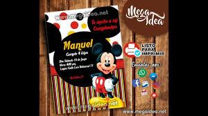 Crear Invitacion De Mickey Mouse Para Imprimir Gratis En Power