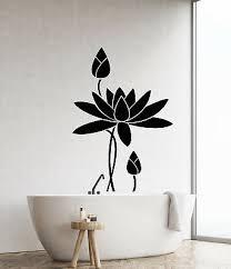 Vinyl Wall Decal Lotus Flower Water Lily Bathroom Decor Garden Stickers 2695ig 21 99 Picclick