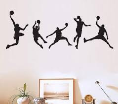Basketball Players Wall Decals Slam Dunk Diy Wall Stickers For Kids Ro Walldecals Com
