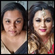 before and after makeup indian