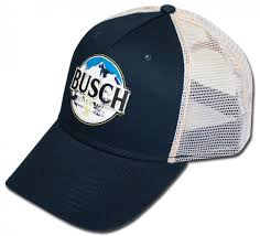 busch beer printed trucker hat
