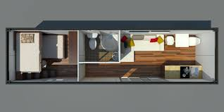 1x 40ft floor plan container house