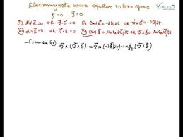 electromagnetic wave equation in free