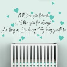 I Will Love You Forever I Will Like You For Always Wall Decals