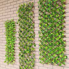 Retractable Artificial Garden Fence Expandable Faux Ivy Privacy Fence Wood Vines Climbing Frame Gardening Plant Home Decor G1 Fencing Trellis Gates Aliexpress
