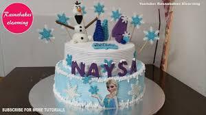 4th birthday cake for frozen theme