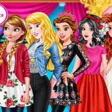 barbie princess dress up games