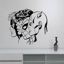 New Arrival Superheroes Wall Decal Removable Vinyl Wall Sticker Captain America Hulk Spiderman Art Decor Home Wall Decals Superhero Wall Decals Decal Removervinyl Wall Stickers Aliexpress