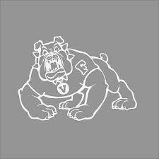 Fresno State Bulldogs 2 College Logo 1c Vinyl Decal Sticker Car Window Wall Ebay