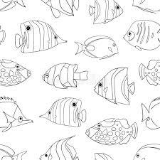 white seamless vector pattern swimming