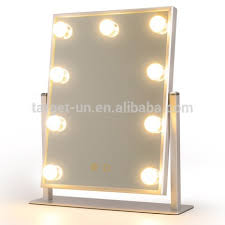 silver glamour light up makeup mirror