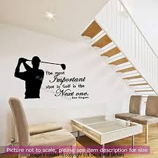 Amazon Com Golf Wall Stickers Ben Hogan Quote Wall Art Vinyl Sports Golf Wall Decals Removable Vinyl Decal Handmade