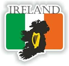 Sticker Of Ireland Decal For Bumper Travel Car Laptop Tablet Suitcase Hollidays Ebay