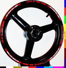 Motorcycle Or Car Rim Stripes Wheel Decals Tape Stickers Trim 17 Inch All Bikes Ebay