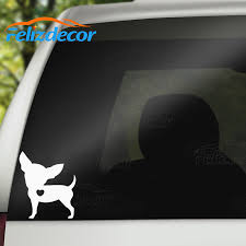 10pcs Set I Love My Chihuahua Dog Animal Car Stickers Waterproof Decals Car Styling Accessories Window Decor Black White Cl018 Car Stickers Aliexpress