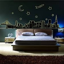 Hot Fluorescent Luminous Vinyl Wall Stickers City Of The Night Sky Wall Stickers For Kids Room Or Living Room Glow In The Dark Sticker City Wall Sticker Cityvinyl Wall Stickers Aliexpress