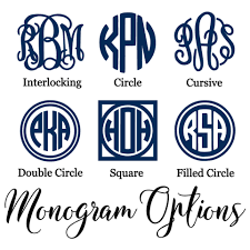 Monogram Computer Decal Belle Ten