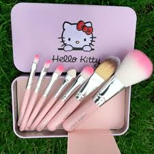 7pcs o kitty makeup brush set more