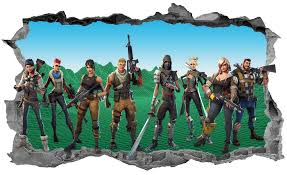Fortnite Wall Sticker 3d Breakout Smashed Decal Home Wall Art Ebay Boys Room Decor Dj Room Wall Stickers 3d