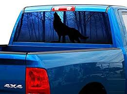 P228 Wolf Rear Window Tint Graphic Decal Wrap Back Pickup Graphics Car Truck Decals Emblems License Frames Car Truck Decals Stickers Moonnepal Com