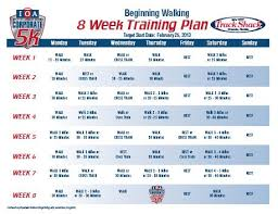of 8 week workout plan february 2020