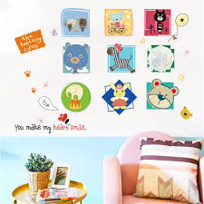 1pc Diy Cartoon Animal Removable Wall Decal Family Home Sticker Home Decor Buy At A Low Prices On Joom E Commerce Platform
