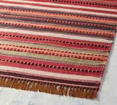 jessa stripe dhurrie indoor outdoor rug