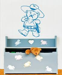Vinyl Wall Decal Sticker Cowboy Teddy Bear Os Aa355 Stickerbrand