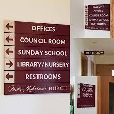 New stylish wayfinding at Faith Lutheran... - NAGLE SIGNS INC ...