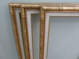 vintage faux bamboo frames gold and