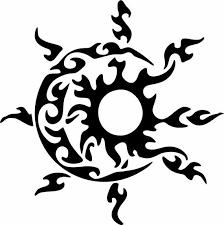 Sun Moon Tribal Sky Celestial Car Tattoo Truck Window Laptop Etsy In 2020 Tribal Sun Moon Tattoo Car Tattoos