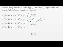 circle equations harder example