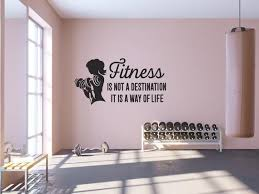 Sports Wall Decal Quote Fitness Is Not A Destination It S Etsy In 2020 Gym Wall Decal Sports Wall Decals Gym Room At Home