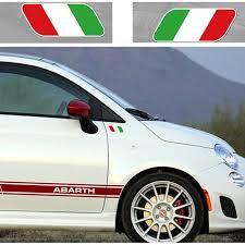 Styling 3d Italian Flag Auto Window Decal Stickers Universal Reflective Car Side Fender Sticker For Fiat Panda Punto 124 125 500 Car Stickers Aliexpress