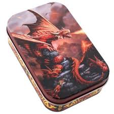 anne stokes small metal tin trinket