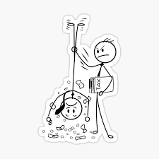 Based Stickman Stickers Redbubble