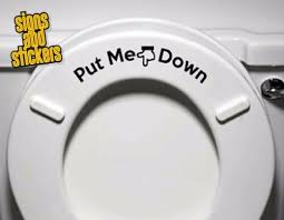 Toilet Seat Down Help Fun Humor Bathroom Toilet Seat Sticker Decal Decoration Home Garden Decor Decals Stickers Vinyl Art