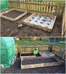 pallet raised garden bed pallet wood